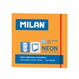 Blok lep NEON MILAN 76 x 76 mm - oranžový