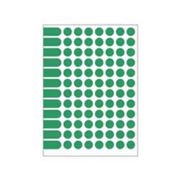 Etikety kruhové 15 mm Agipa A5 zelené