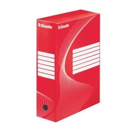 """Archívny box, A4, 100 mm, kartón, ESSELTE """"Standard"""", červený"""