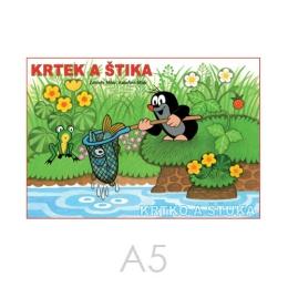 Omaľovánka A5 Akim - Krtko a šťuka