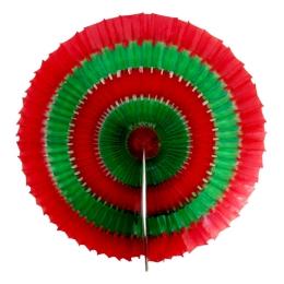 Vianočná dekorácia - papierový kruh 40 cm - zeleno/červený 1 ks