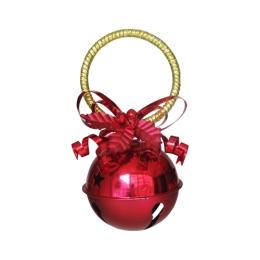 Vianočná dekorácia - rolnička 10cm - červená 1 ks