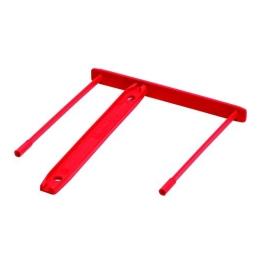 Archívna spona, plastová, červená, 85 mm, FELLOWES