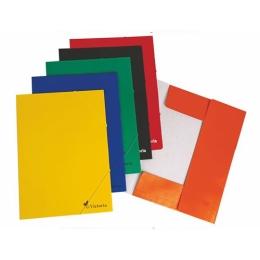 Doska s gumičkou, kartónová, A4, VICTORIA, oranžová