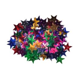 Dekorácia hviezdy mix farieb 25 mm 14 g.