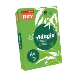 """Kopírovací papier, farebný, A4, 80 g, REY """"Adagio"""", intenzívny zelený"""
