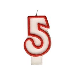 """Sviečka číslová """"5"""" 75 mm"""