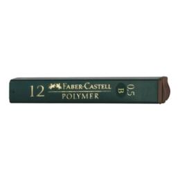Tuhy do mech. ceruziek Faber-Castell 0,5mm/B (12ks)