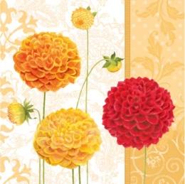 Obrúsky PAW L 33X33cm floral autumn orange