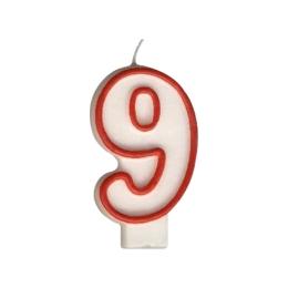 """Sviečka číslová """"9"""" 75 mm"""