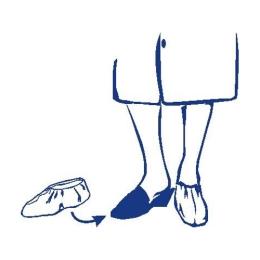 Jednorázové návleky na obuv modré 40x14cm /100ks/
