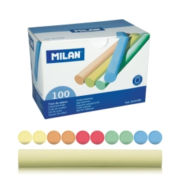 Krieda MILAN guľatá farebná 100 ks