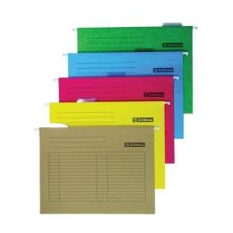 Závesné zakladacie dosky, kartónové, A4, DONAU, žlté /5ks/