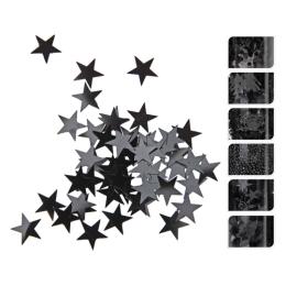 Dekoračné konfety - čierne 50g, 1ks