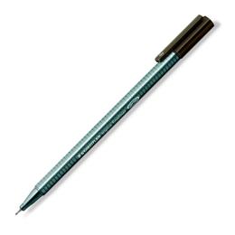 "Liner, 0,3 mm, STAEDTLER ""Triplus"", tmavohnedý"
