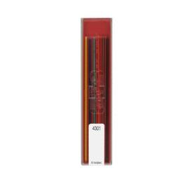 Tuhy grafitové KOH-I-NOOR farebné/technické, sada 6 ks
