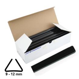 Násuvné lišty Relido 9-12 mm čierne