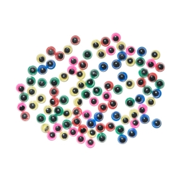 Dekorácia pohyblivé oči mix farieb 100 ks 5 mm