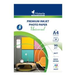 """Fotopapier VICTORIA """"Universal"""", pre atramentovú tlač, matný, A4, 90 g"""