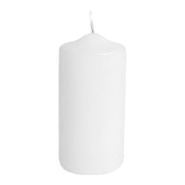 Sviečka valcová 50 x 100 mm biela  (4 ks v bal.)