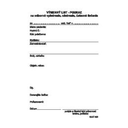 Výmenný list - poukaz A6, 100 listov (202)