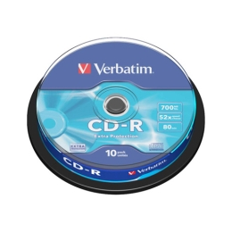 CD-R Verbatim 43437 Extra Protection , 52x, 700 MB/80 MIN, 10-pack