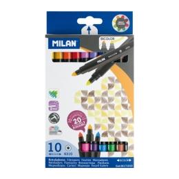 Fixy MILAN obojstranné 0,5mm - sada 10 ks