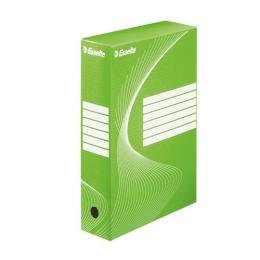 """Archívny box, A4, 80 mm, kartón, ESSELTE """"Standard"""", zelený"""
