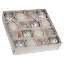 Vianočná guľa - PP biela 100 mm, 1ks