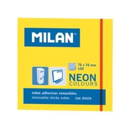 Blok lep NEON MILAN 76 x 76 mm - žltý