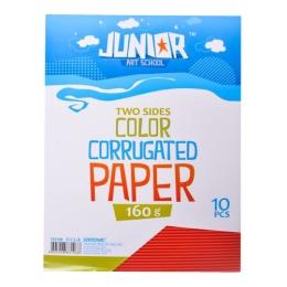 Dekoračný papier A4 10 ks červený vlnkový 160 g.