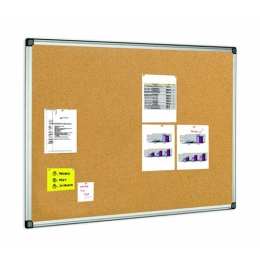 Korková tabuľa v hliníkovom ráme 90 x 120 cm