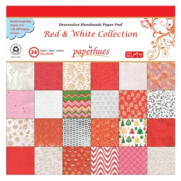 Zložka dekor. papiera - 24 listov, 30x30 cm - Red & White Collection