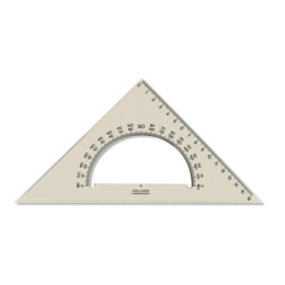 Trojuholník KOH-I-NOOR transparentný s uhlomerom, 16 cm