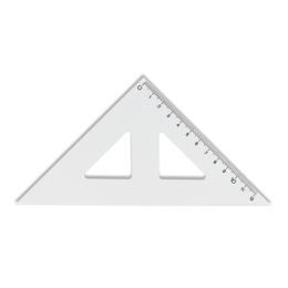 Trojuholník KOH-I-NOOR transparentný s ryskou, 12 cm
