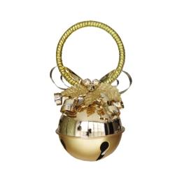 Vianočná dekorácia - rolnička 10cm - zlatá 1 ks