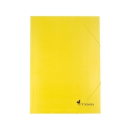 Doska s gumičkou, kartónová, A4, VICTORIA, žltá