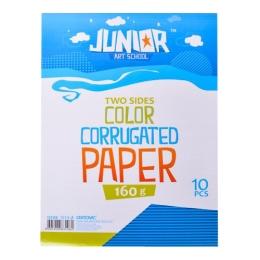 Dekoračný papier A4 10 ks modrý vlnkový 160 g.