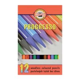 Pastelky KOH-I-NOOR Progresso, sada 12 ks