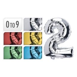 Balón narodeninový 35 cm, čísla 0-9, mix farieb, 1ks