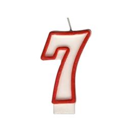 """Sviečka číslová """"7"""" 75 mm"""