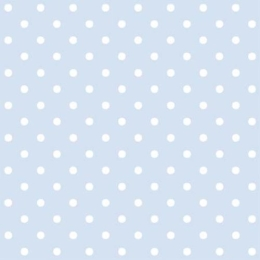 Obrúsky PAW L 33x33cm Dots light blue