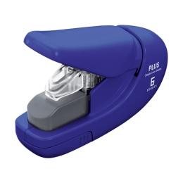 Zošívačka PLUS Paper Clinch mini 106AB (na 6 listov), modrá
