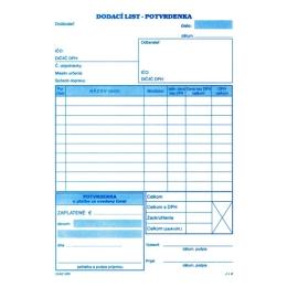 Dodací list s DPH A5 s potvrdenkou, samoprepis (65)