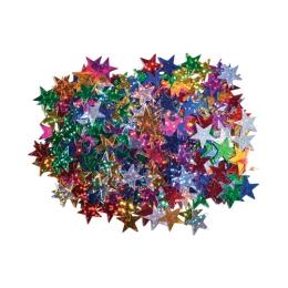 Dekorácia hviezdy mix farieb 15 mm 14 g.