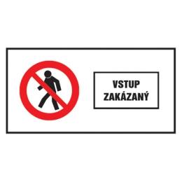 Etikety Info - Vstup zakázaný 262x131 mm