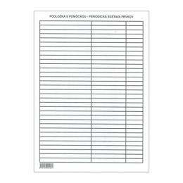 Podložka školská - Lamino A4 s nápovedou - Periodická sústava