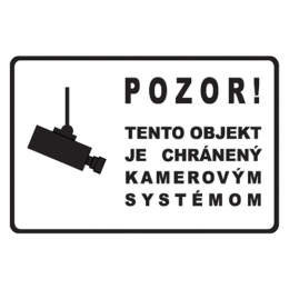 Etikety Info - Objekt chránený kamerou 200x135 mm