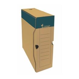 Archívny box, A4, 100 mm, kartón, VICTORIA, prírodný