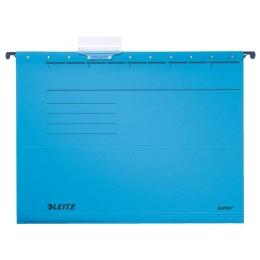"""Závesná zakladacia doska, kartón, A4, LEITZ """"Alpha"""", modrá"""